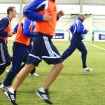 fotbollsträningen — Stockfoto