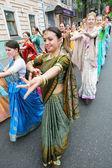 Hare Krishna followers — Stock Photo