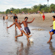 Soccer on beach — Stock Photo #8696297
