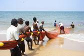 Sri Lankan fishermans — Stock Photo
