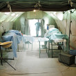 Military mobile hospital — Stock Photo
