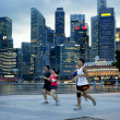 Stock Photo: Running in Singapore