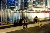 Singapore embankment — Stock Photo