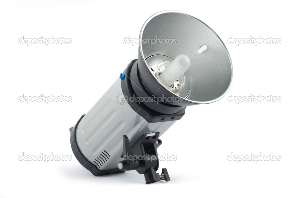 Studio strobe on white background — Stock Photo #10125069