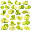 Lime on white — Stock Photo