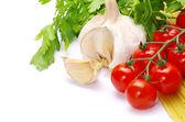 Macarrão com tomates — Foto Stock