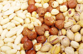 Nuts on a background — Stock Photo