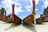 Longtail lodě, Andamanské moře — Stock fotografie