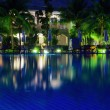 Pool in night illumination — Stock Photo