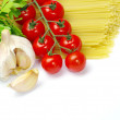 Pasta with tomatoes — Stock Photo