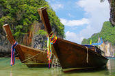 Longtail boats, Thailand — Stock Photo