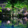 Stock Photo: Pool in night illumination