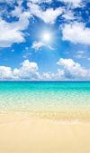 Mar playa y tropical — Foto de Stock