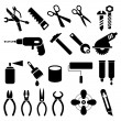 Work Tools - set of vector icons - Stock Vector