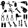 tools - vector icons — Stock Vector