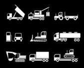 Trucks - vector icons — Stock Vector