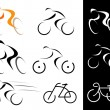 Stock Vector: Cyclist - isolated vector icons