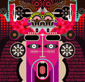 Abstract Graphic Art - vector illustration — Vecteur