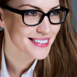 Beautiful business woman with glasses. Close-up portrait — Stock Photo #10203505