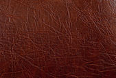 Brown leather texture closeup. Useful as background for design-w — Stock Photo