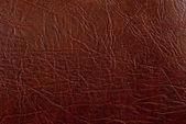 Brunt läder textur närbild. användbar som bakgrund för design-w — Stockfoto