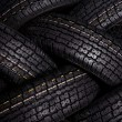 Tire texture — Stock Photo