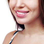 Smile of a beautiful young woman . — Stock Photo