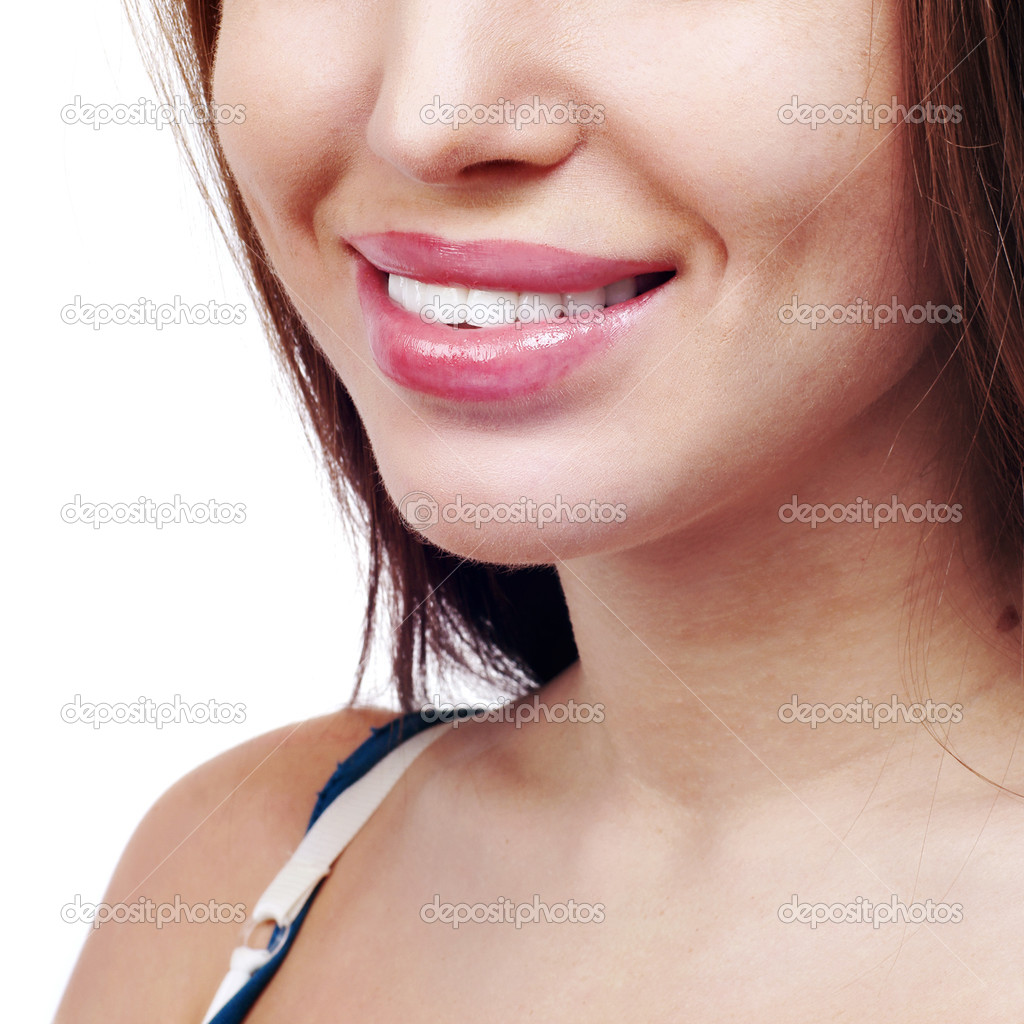 Smile of a beautiful young woman . — Stock Photo #9351131