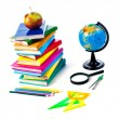Back to school supplies. Isolated. — Foto Stock #9946012