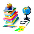 Back to school supplies. Isolated. — Stock Photo #9946012