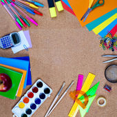 Άποψη της εργαλεία του office πίνακα φελλού — Stockfoto