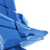 蓝色抽象技术背景与副本空间 — 图库照片