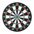 Dartboard isolated over white background — Stock Photo
