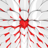 Abstract background with red heart in the centre — Stock Photo