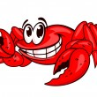 Smiling red crab — Stock Vector
