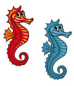Funny seahorse — Stock Vector