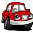 Cartoon red car — Stock Vector