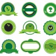 Set of green labels — Vector de stock #10483947