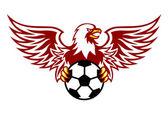 Heraldic eagle with ball — Stock Vector