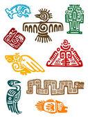 Monstres des anciens mayas — Vecteur