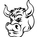 Cartoon bull — Stock Vector