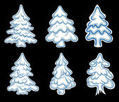 Set of chistmas pines — Stock Vector