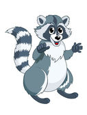 Funny racoon — Stock Vector