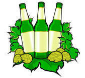 Beer bottles — Stock Vector