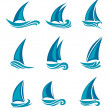 Stock Vector: Yachts and sailboats