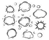 Cartoon clouds and bubbles — Stock Vector