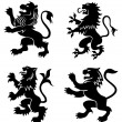 Stock Vector: Royal heraldic lions