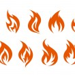 Fire symbols — Stock Vector