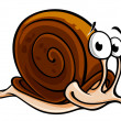 Stock Vector: Slow snail