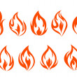Fire flames set — Stock Vector
